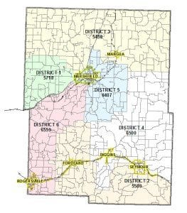 Nursing Home Districts Map