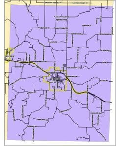 Seymour Special Road District Map